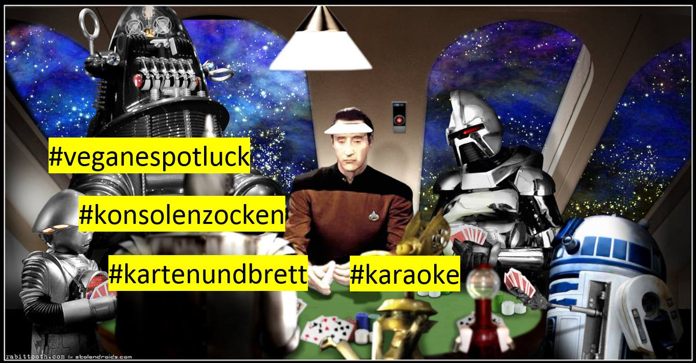 42geeks and nerds welcome - veganespotluck spieleabend karaoke